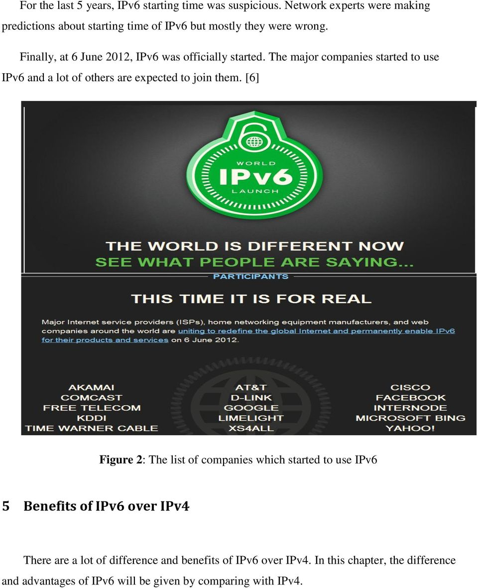 Finally, at 6 June 2012, IPv6 was officially started.