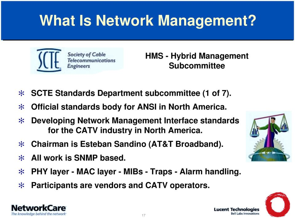 Developing Network Interface standards for the CATV industry in North America.