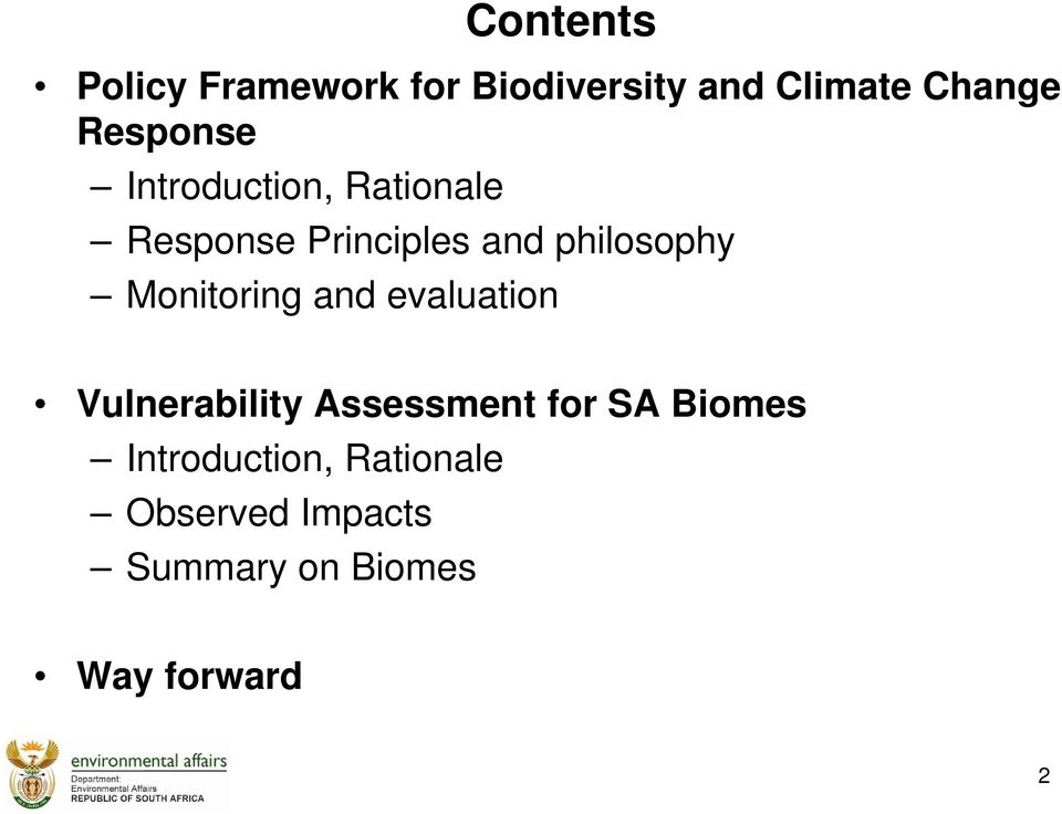 philosophy Monitoring and evaluation Vulnerability Assessment for