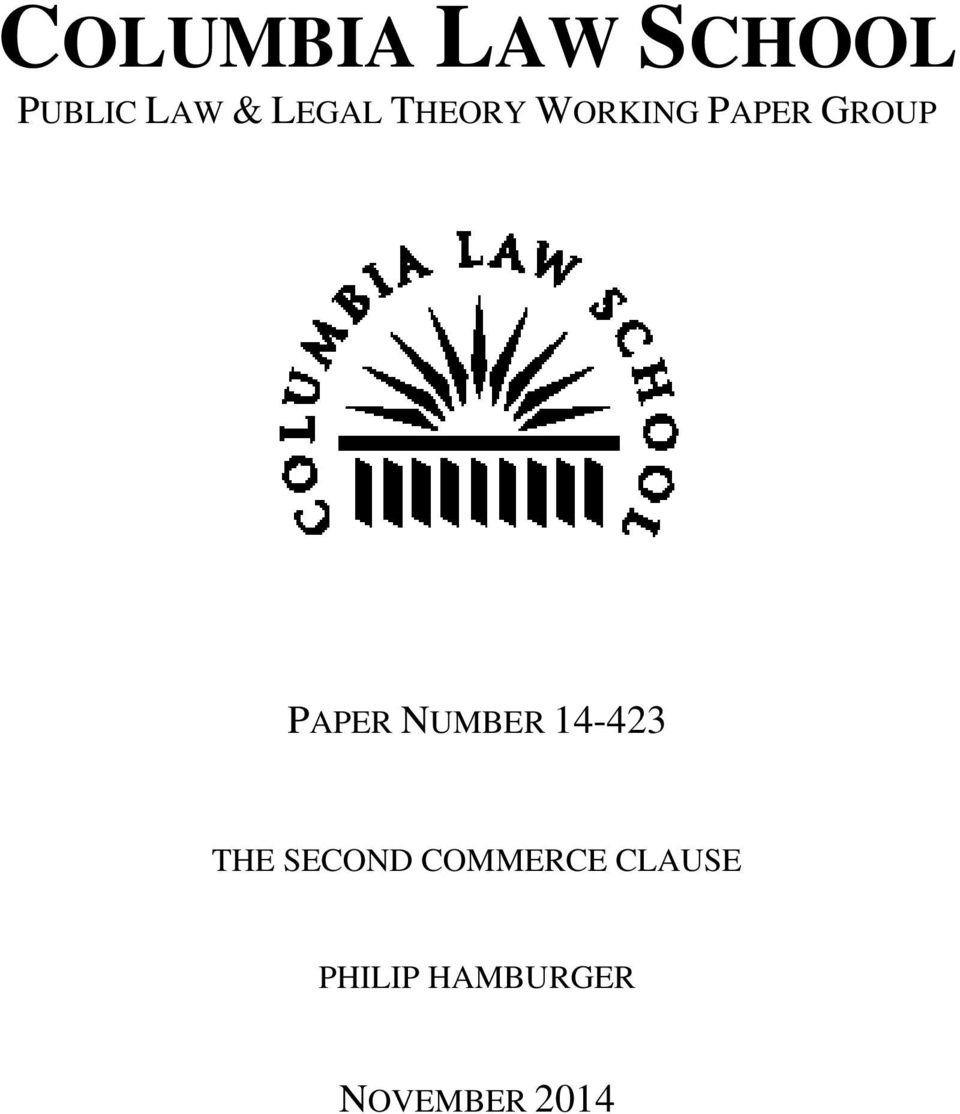 PAPER NUMBER 14-423 THE SECOND