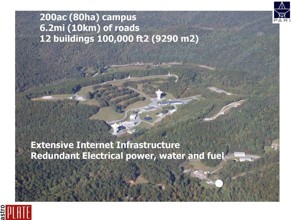 100,000 ft2 (9290 m2) Extensive