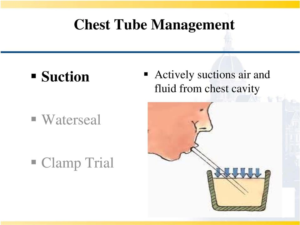 air and fluid from chest