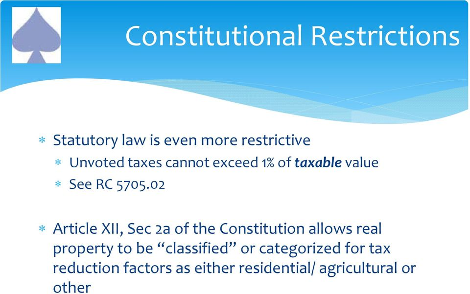 02 Article XII, Sec 2a of the Constitution allows real property to be