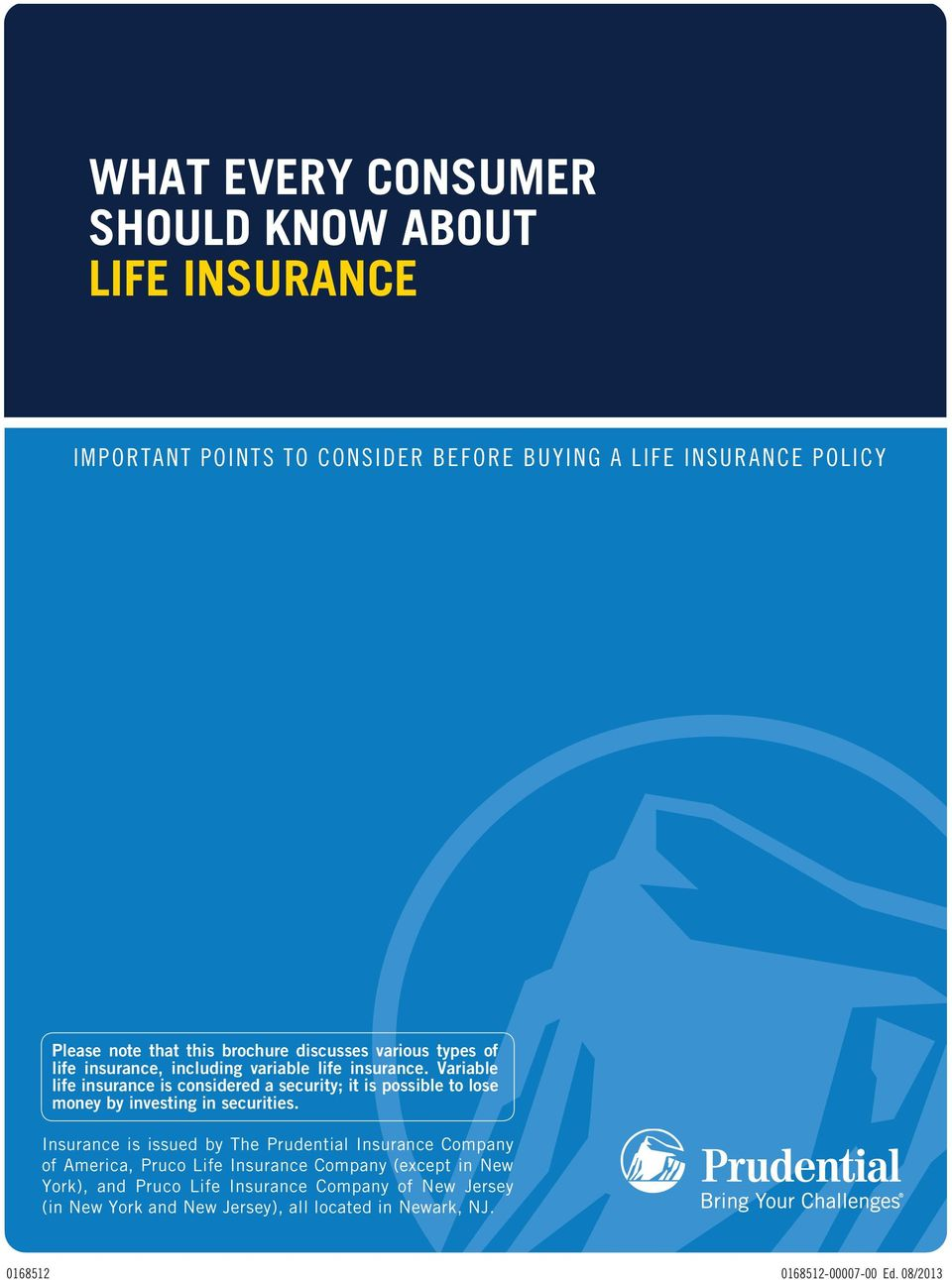 WHAT EVERY CONSUMER SHOULD KNOW ABOUT LIFE INSURANCE - PDF