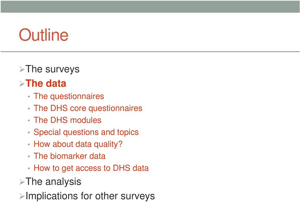 topics How about data quality?