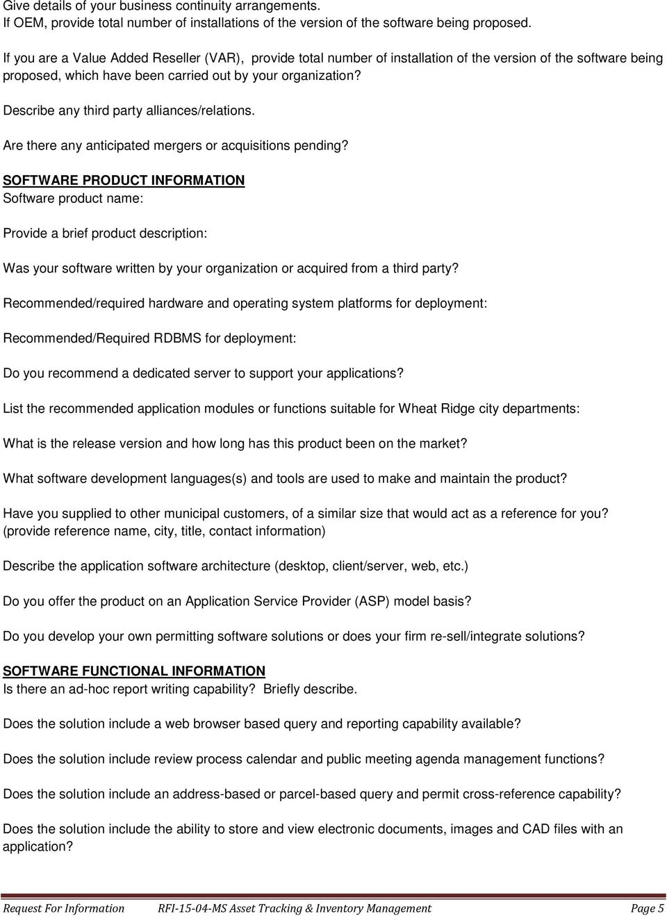 Describe any third party alliances/relations. Are there any anticipated mergers or acquisitions pending?