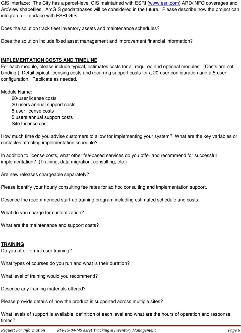 Does the solution include fixed asset management and improvement financial information?