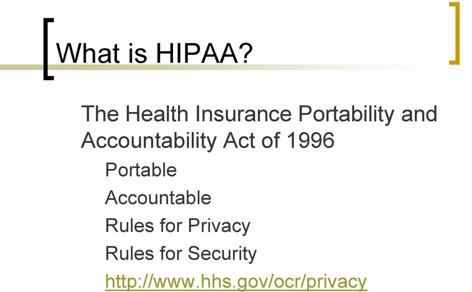 Accountability Act of 1996 Portable