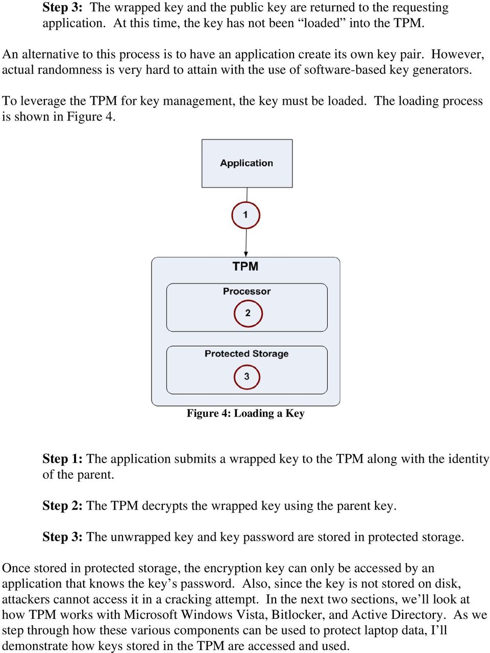 To leverage the TPM for key management, the key must be loaded. The loading process is shown in Figure 4.