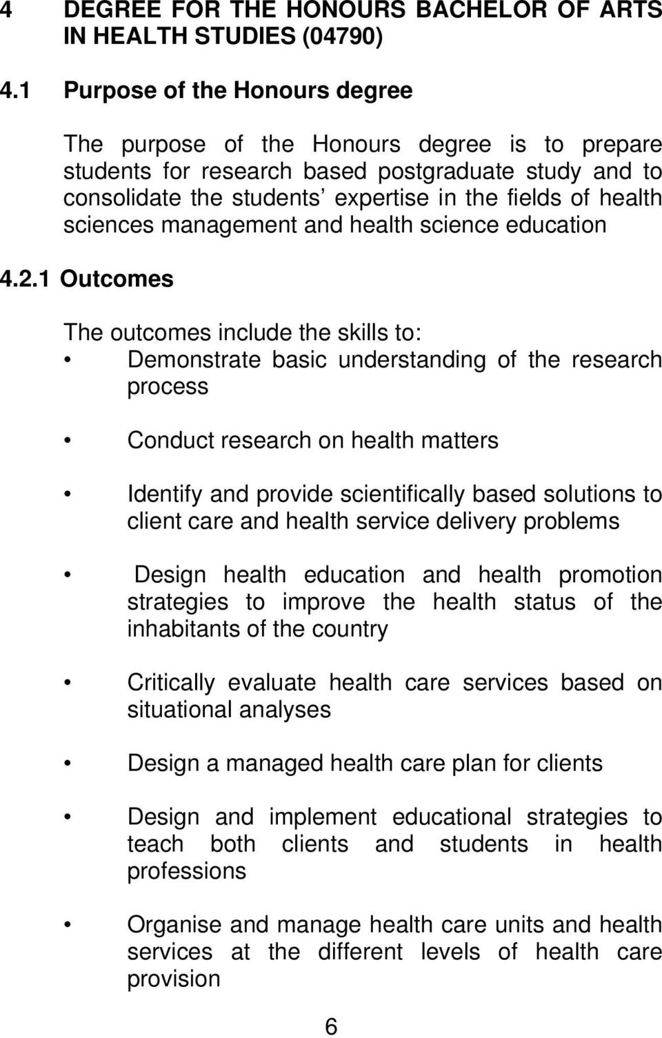 sciences management and health science education 4.2.