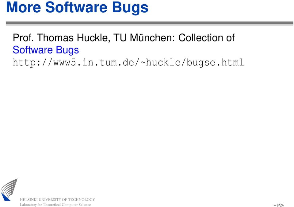 Collection of Software Bugs