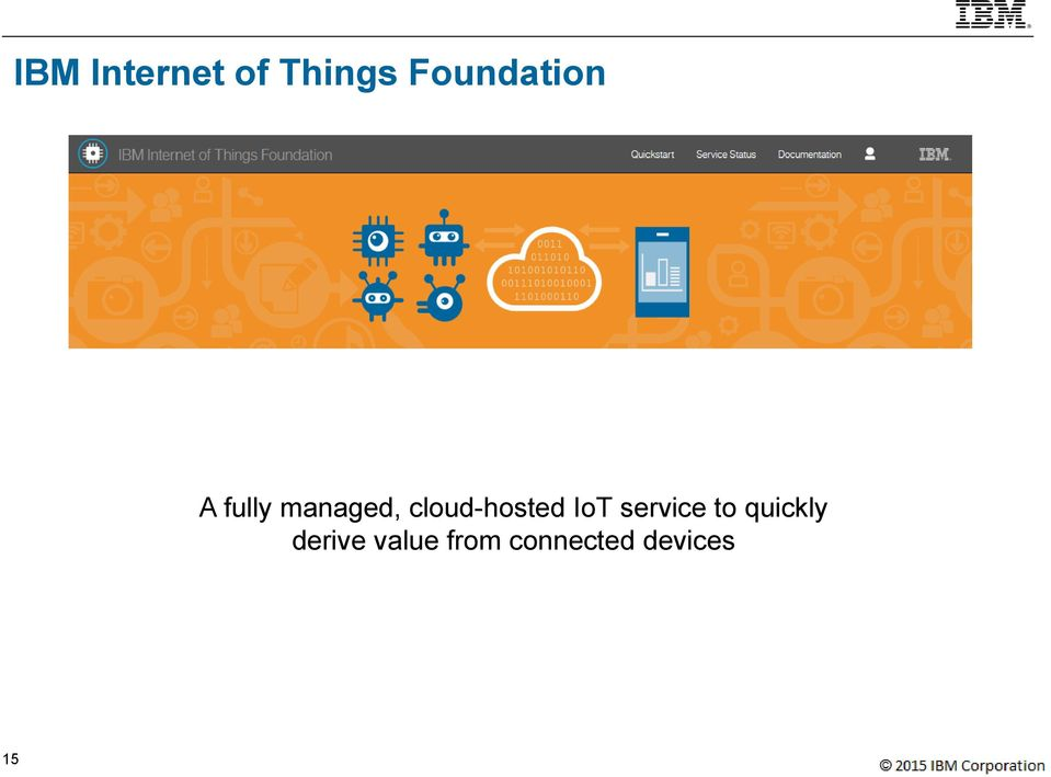 cloud-hosted IoT service to