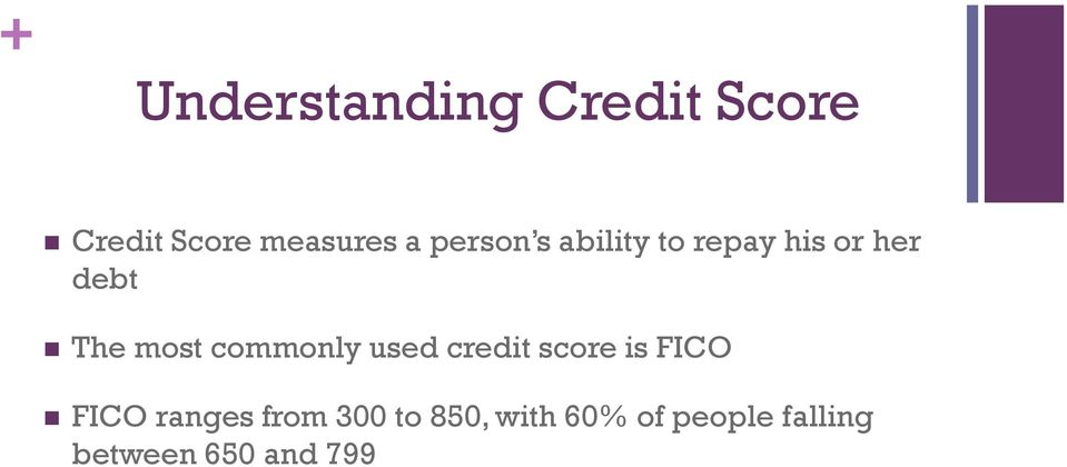commonly used credit score is FICO FICO ranges from