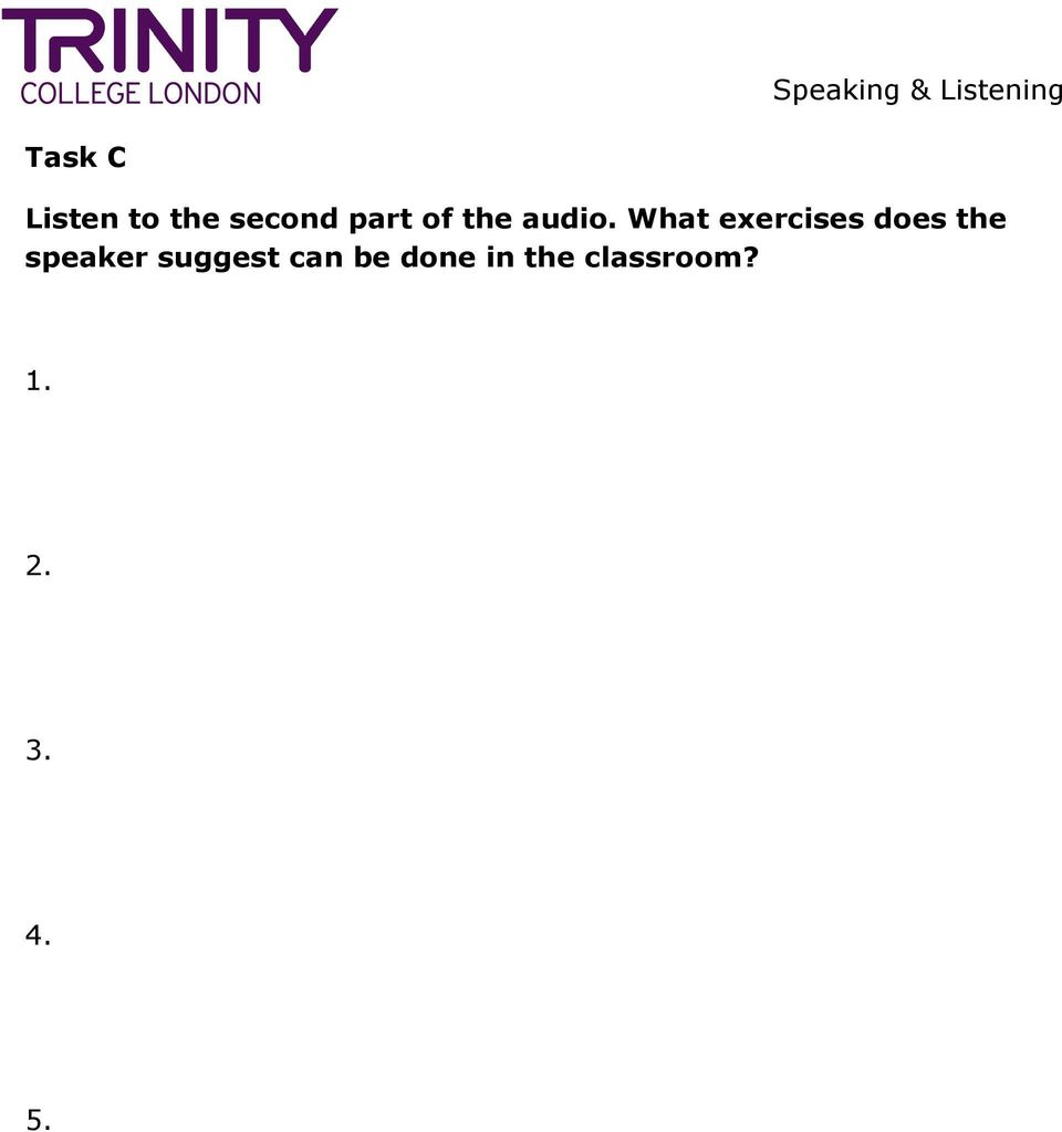 What exercises does the speaker