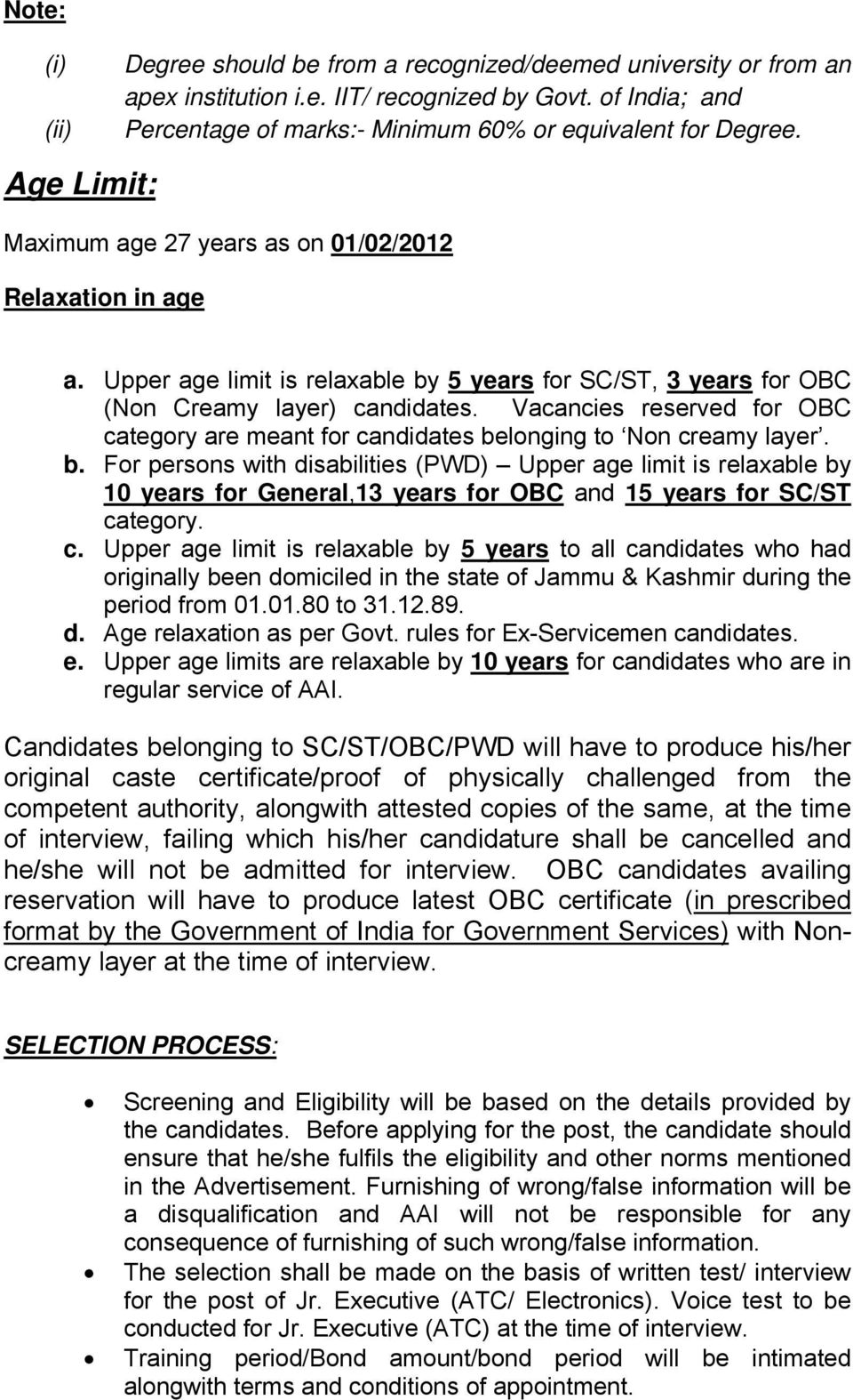 Vacancies reserved for OBC category are meant for candidates be
