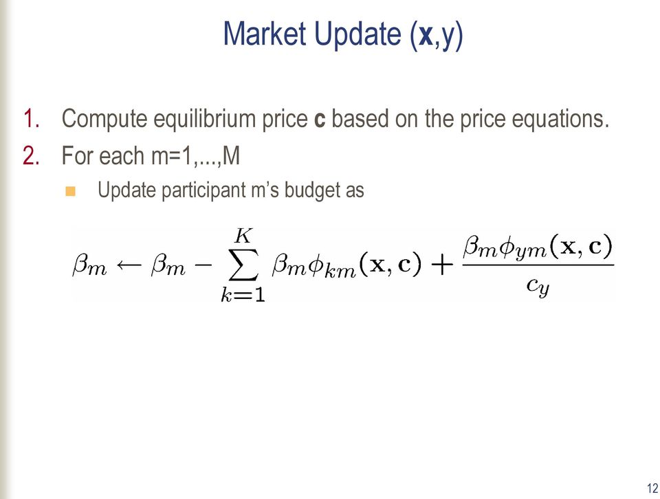 on the price equations. 2.
