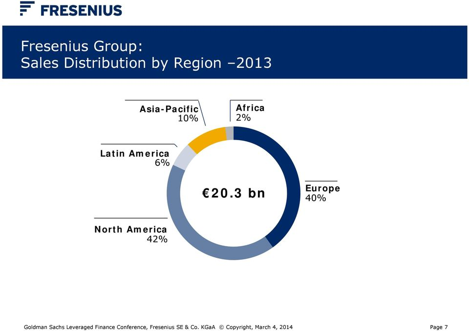 3 bn Europe 40% North America 42% Goldman Sachs Leveraged