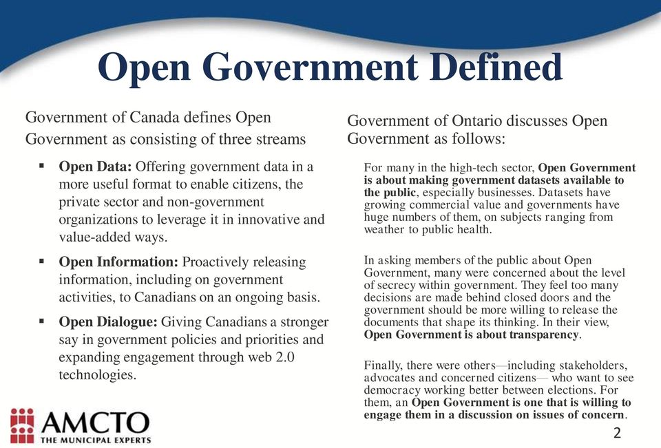 Open Information: Proactively releasing information, including on government activities, to Canadians on an ongoing basis.