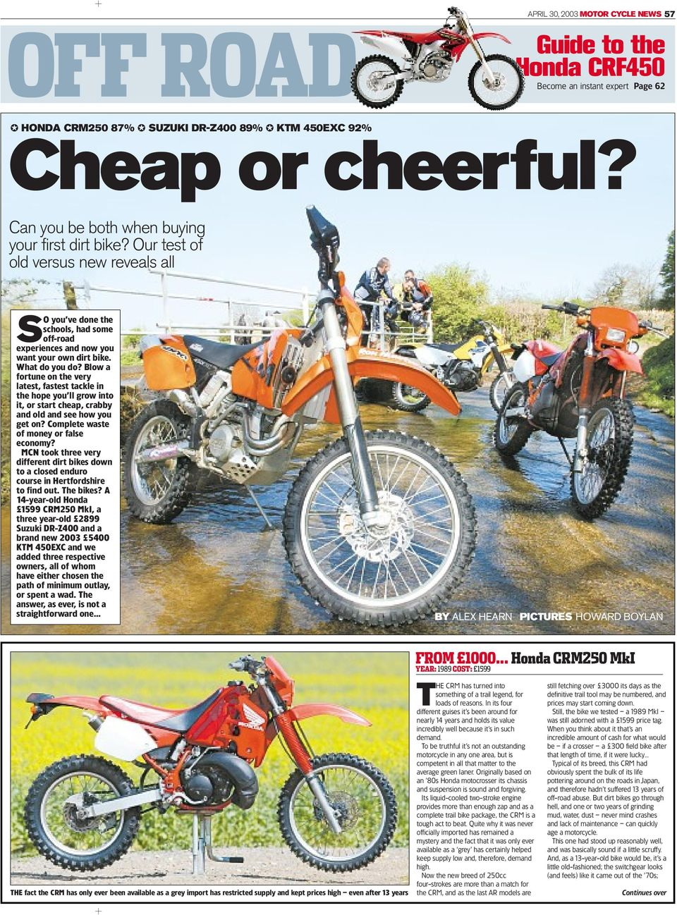 off road cheap or cheerful guide to the honda crf450 become an