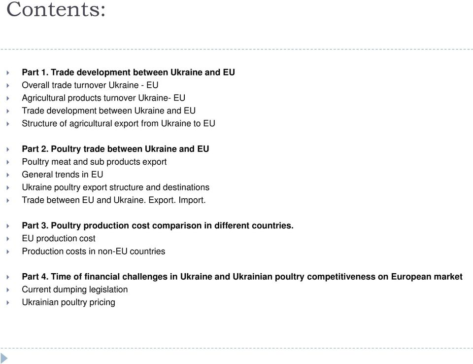 agricultural export from Ukraine to EU Part 2.
