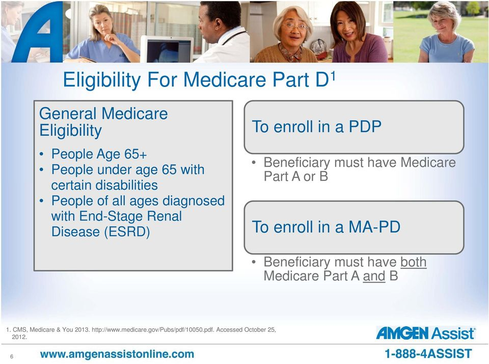 Beneficiary must have Medicare Part A or B To enroll in a MA-PD Beneficiary must have both Medicare Part