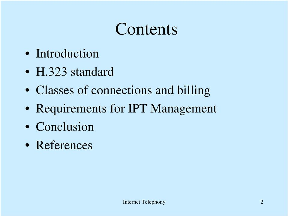and billing Requirements for IPT