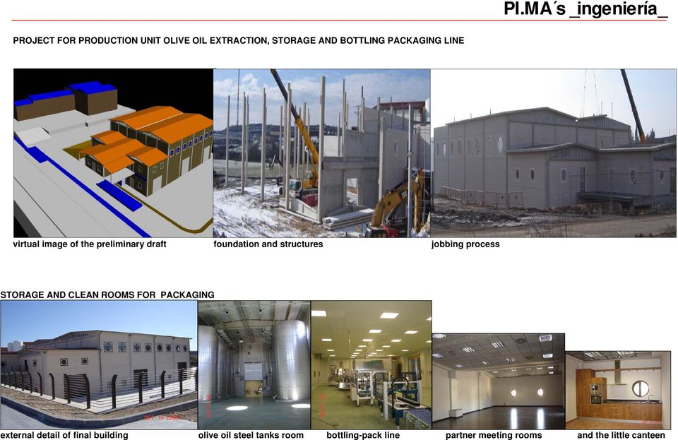 virtual image of the preliminary draft foundation and structures jobbing process STORAGE AND CLEAN ROOMS