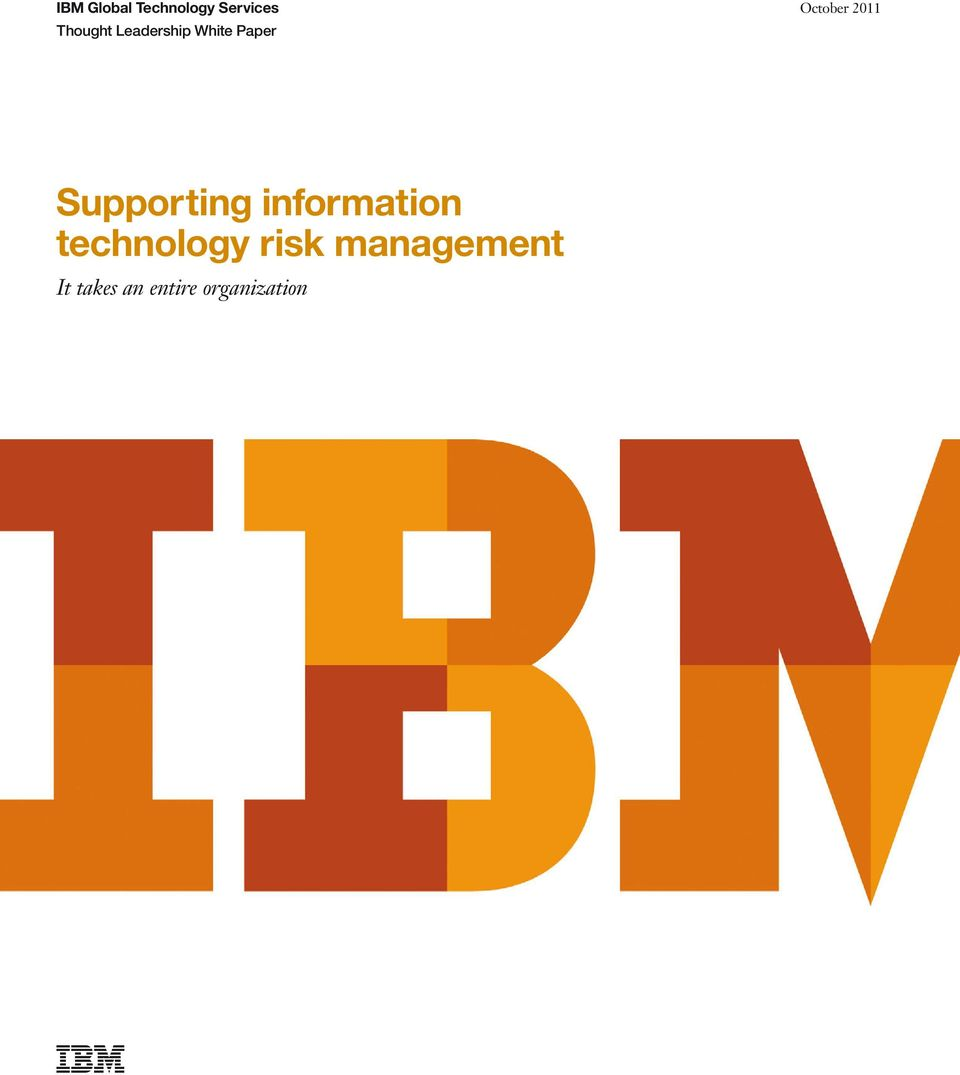 Supporting information technology risk