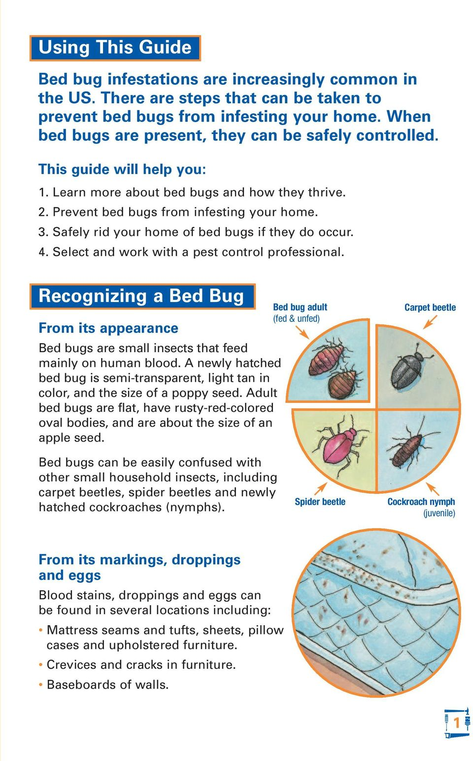 Safely rid your home of bed bugs if they do occur. 4. Select and work with a pest control professional.