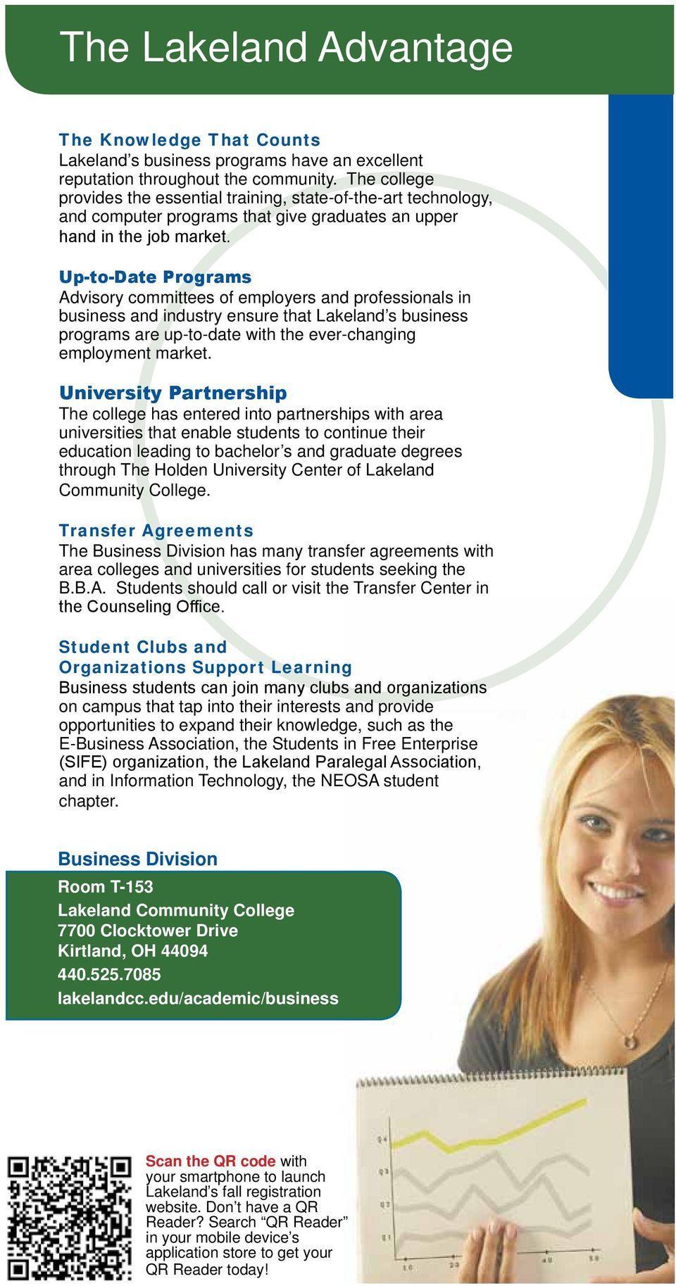Up-to-Date Programs Advisory committees of employers and professionals in business and industry ensure that Lakeland s business programs are up-to-date with the ever-changing employment market.