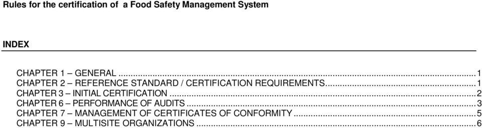 .. 1 CHAPTER 3 INITIAL CERTIFICATION.