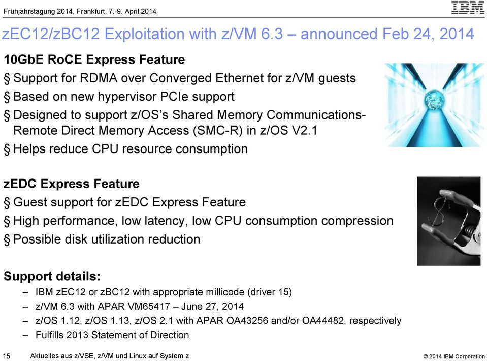 Communications- Remote Direct Memory Access (SMC-R) in z/os V2.