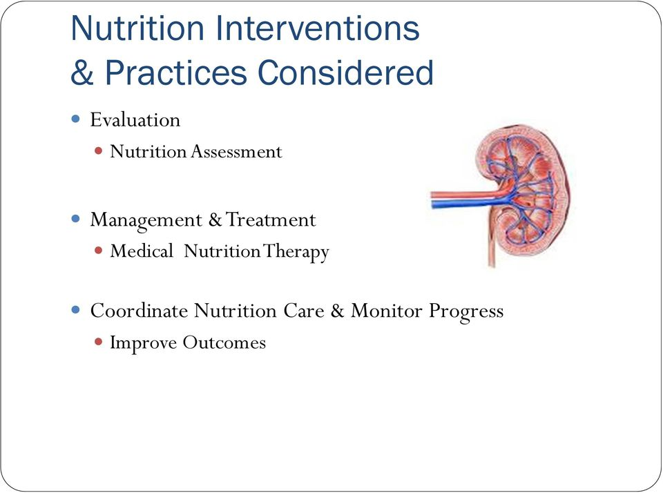 Treatment Medical Nutrition Therapy Coordinate