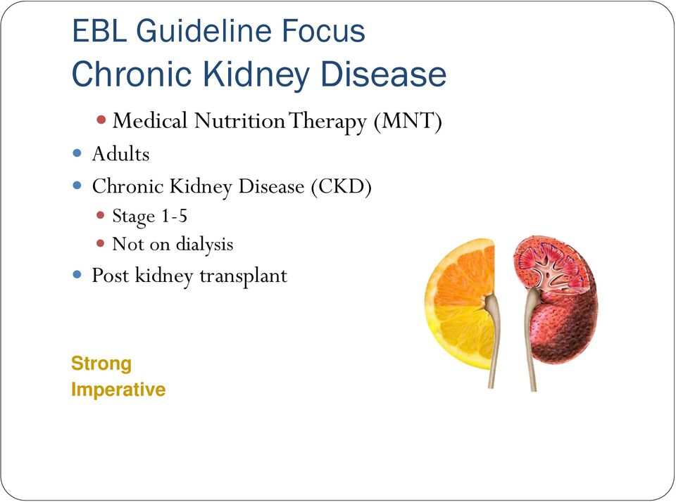 Chronic Kidney Disease (CKD) Stage 1-5 Not