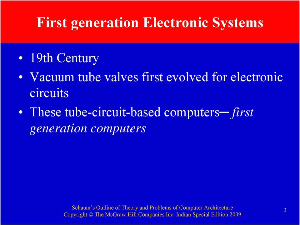for electronic circuits These