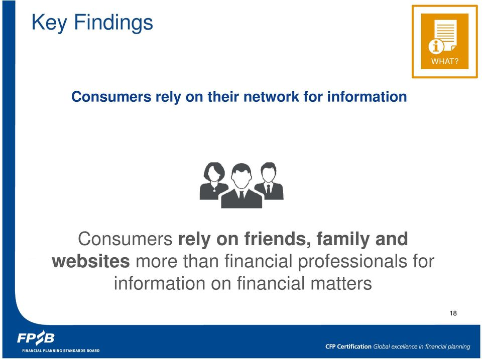 information Consumers rely on friends, family