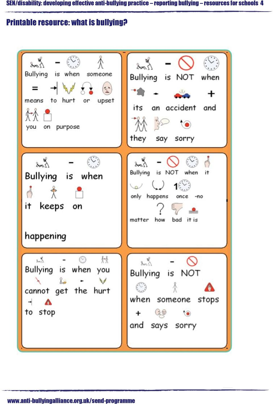 reporting bullying resources for