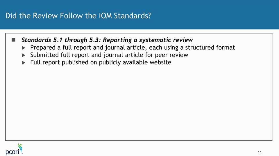 article, each using a structured format Submitted full report and