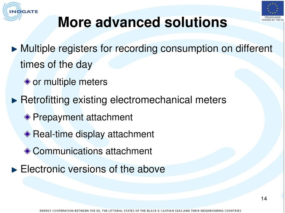 existing electromechanical meters Prepayment attachment Real-time