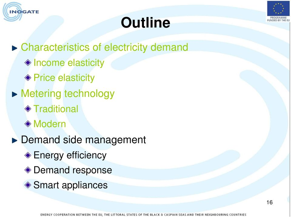 technology Traditional Modern Demand side