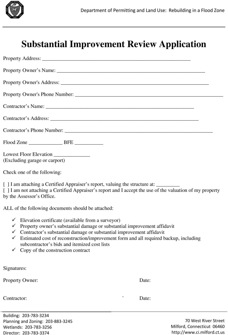 attaching a Certified Appraiser s report and I accept the use of the valuation of my property by the Assessor s Office.