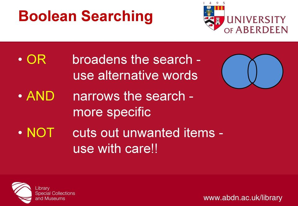 narrows the search - more specific