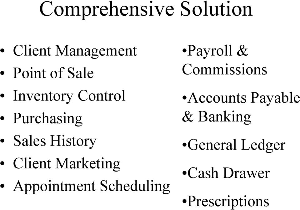 Marketing Appointment Scheduling Payroll & Commissions