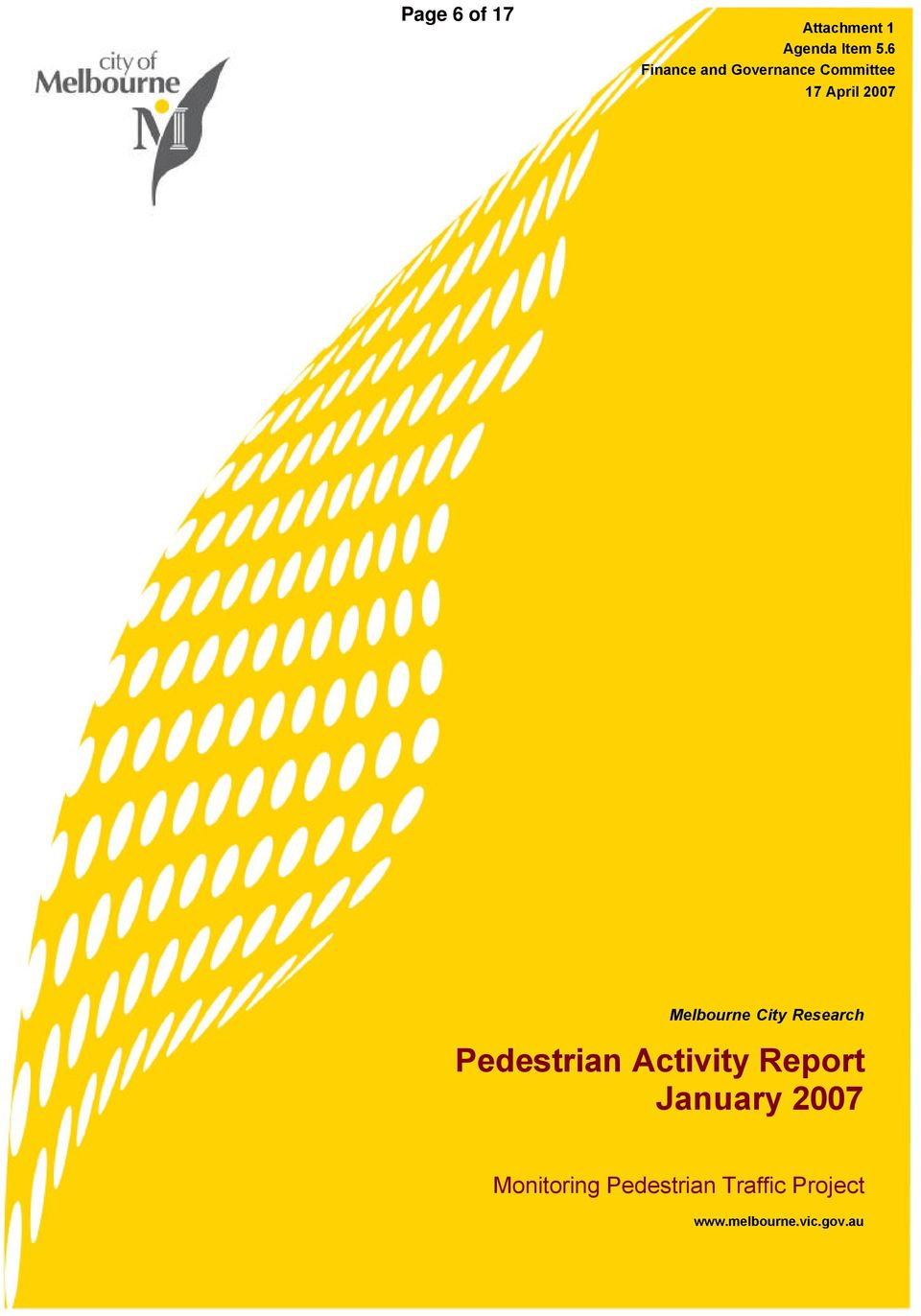 Melbourne City Research Pedestrian Activity Report