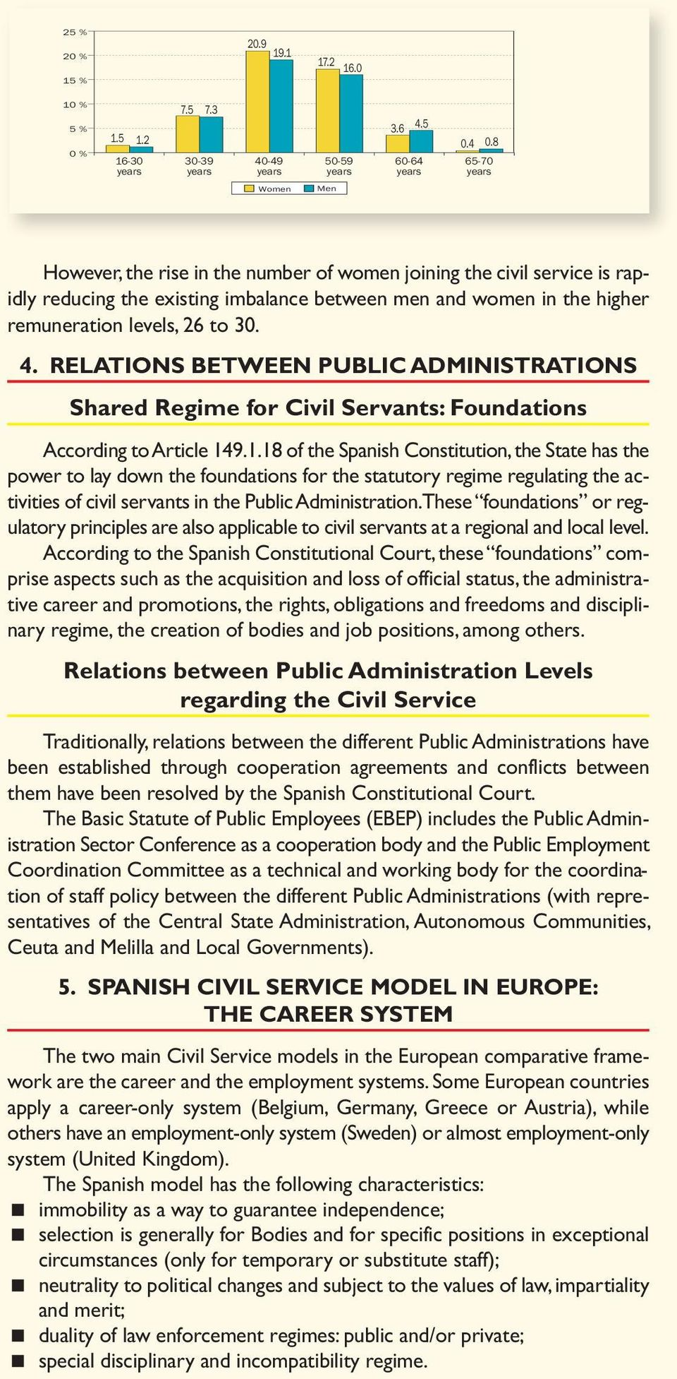 4. RELATIONS BETWEEN PUBLIC ADMINISTRATIONS Shared Regime for Civil Servants: Foundations According to Article 14