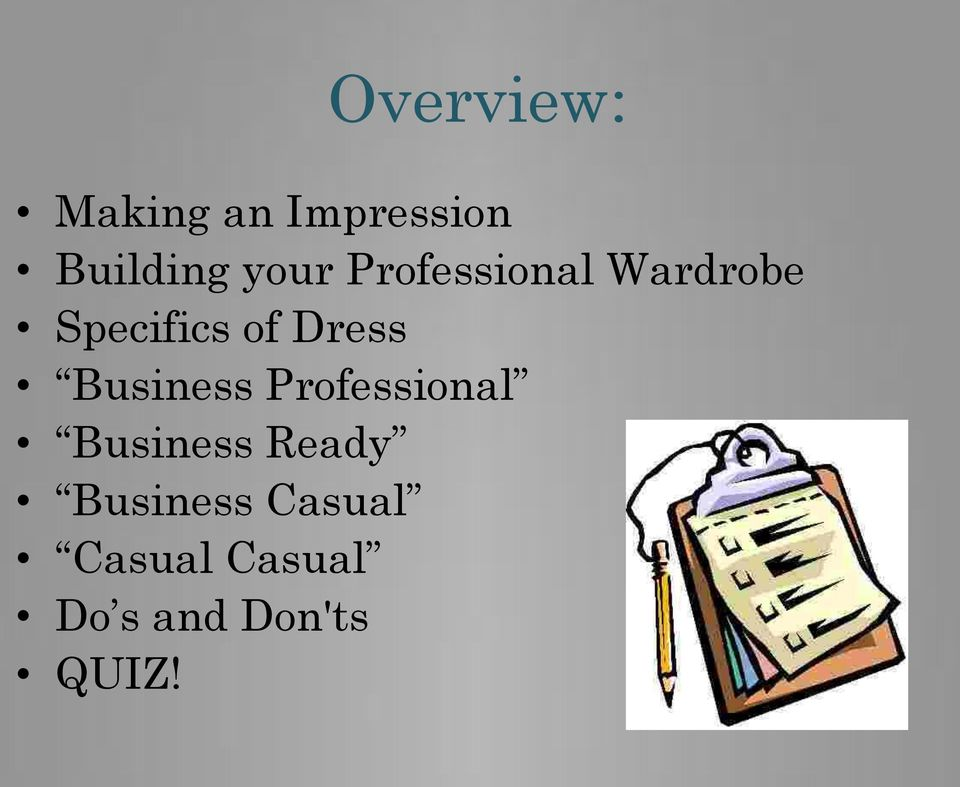 Dress Business Professional Business Ready