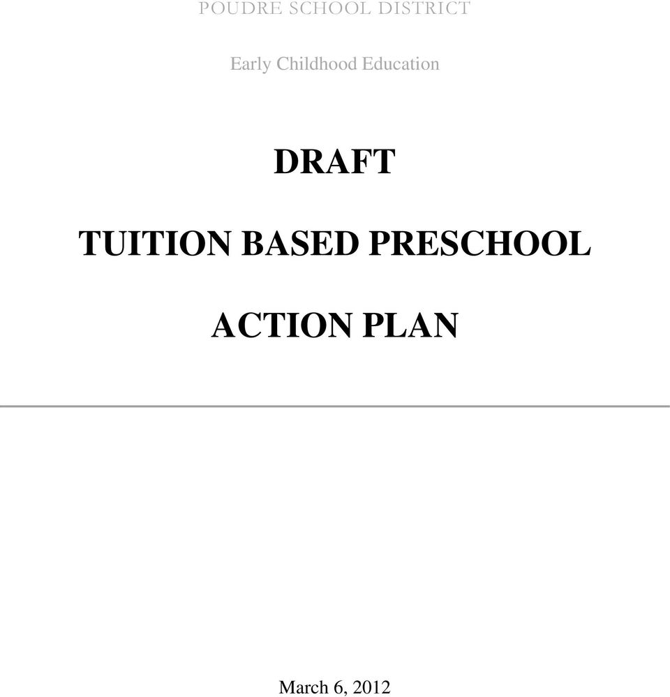 DRAFT TUITION BASED