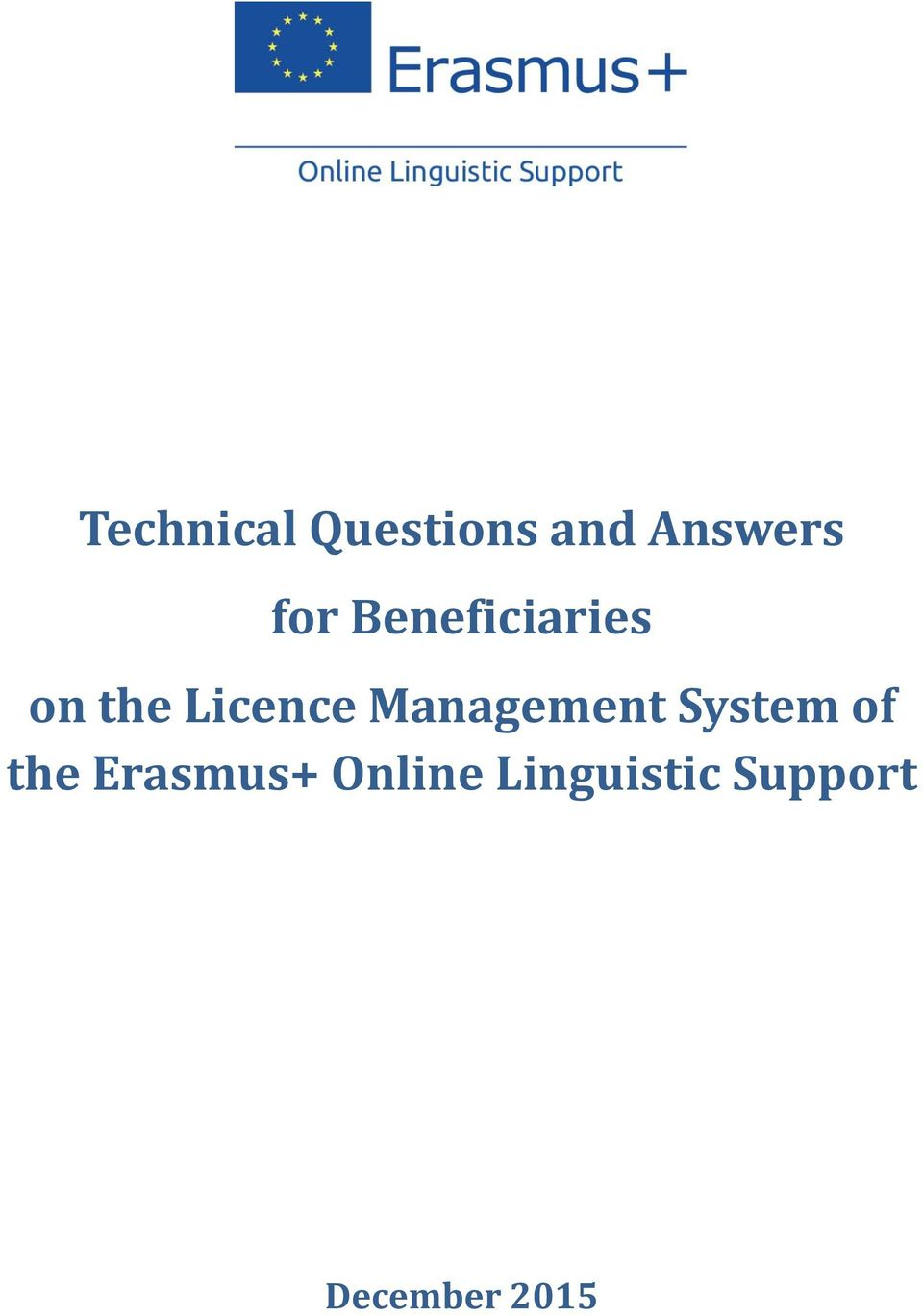 Management System of the Erasmus+