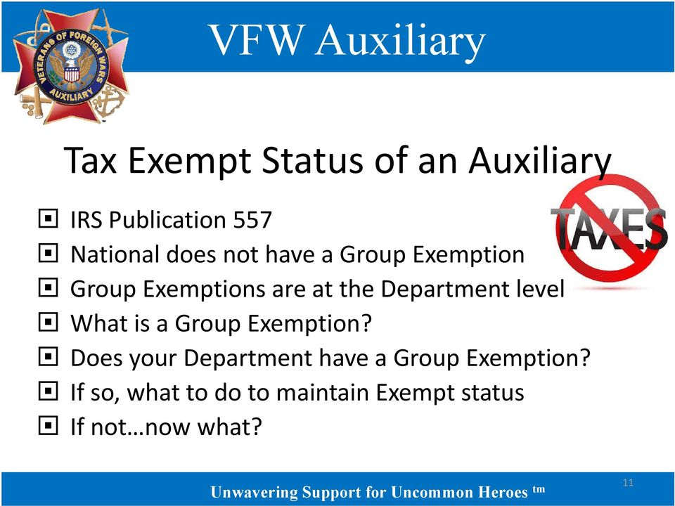 level What is a Group Exemption?