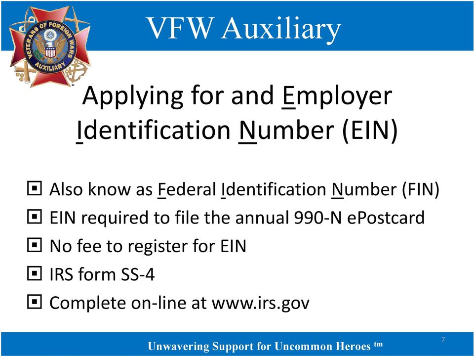 required to file the annual 990 N epostcard No fee to